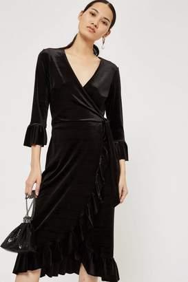 YAS **Velvet Wrap Dress by Y.A.S
