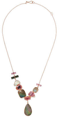 Melissa Joy Manning 14-karat Yellow And Rose Gold Multi-stone Necklace