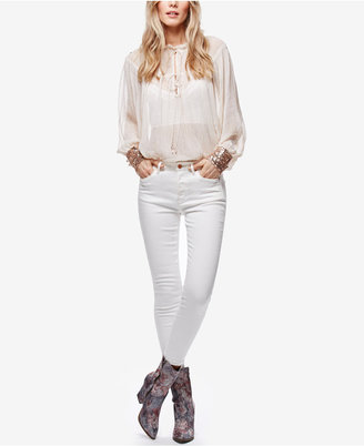 Free People Payton White Wash Skinny Jeans $78 thestylecure.com