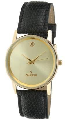 Peugeot Men's 'Professional' Quartz Metal and Leather Dress Watch