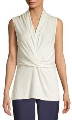 Halston H Sleeveless Draped Top