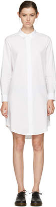 Alexander Wang White Zip Shirt Dress