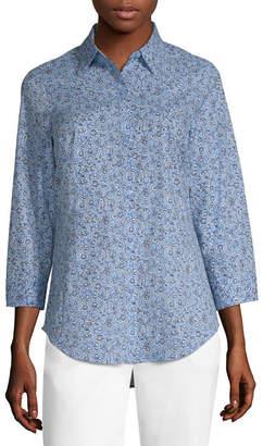 Liz Claiborne 3/4 Sleeve Essential Shirt - Tall