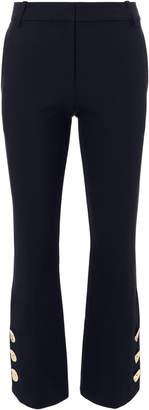 Derek Lam 10 Crosby Slit Hem Crop Flare Trousers