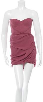 Jasmine Di Milo Silk Strapless Dress