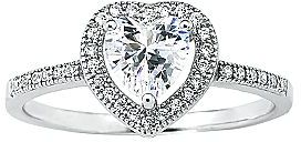 JCPenney DiamonArt® Cubic Zirconia Sterling Silver Heart Ring
