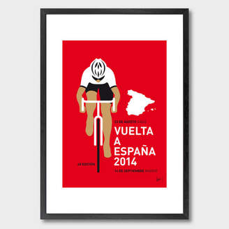 Monde Mosaic My Vuelta A Espana Minimal Poster 2014 Art Print