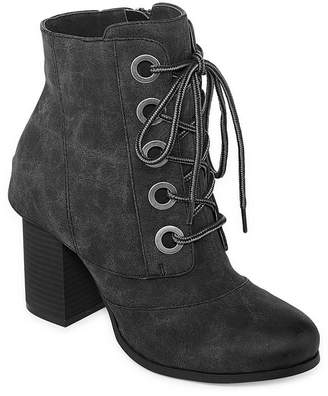 Two Lips 2 Lips Too Womens Lala Bootie Block Heel Lace-up