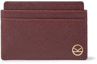 Smythson Kingsman Cross-Grain Leather Cardholder - Men - Burgundy
