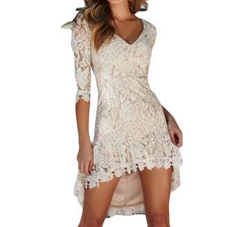 ae44efdac5ade AfterSo Apparel Lace Short Mini Dresses V Neck for Women Party Night Club  Holiday Summer Afterso