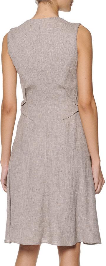 Giorgio Armani Sleeveless Zip-Front Dress