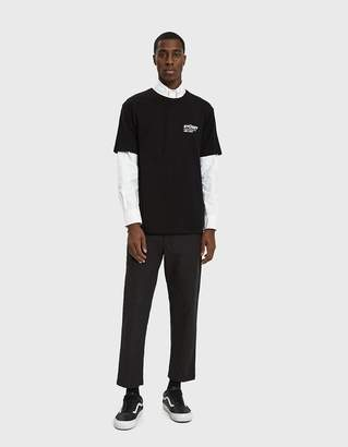 Stussy S/S Surf & Sport Crewneck Tee in Black
