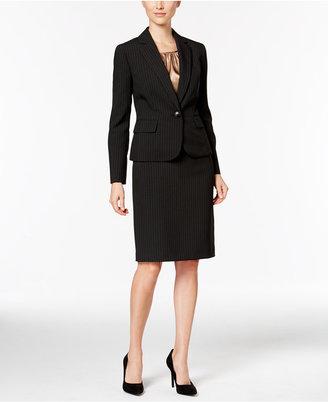 Le Suit Three-Piece One-Button Pinstriped Skirt Suit $240 thestylecure.com