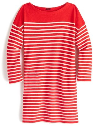 Women's J.crew Stripe Boatneck Tunic $55 thestylecure.com