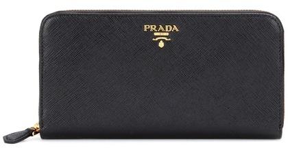 pradaPrada Saffiano leather zip-around wallet