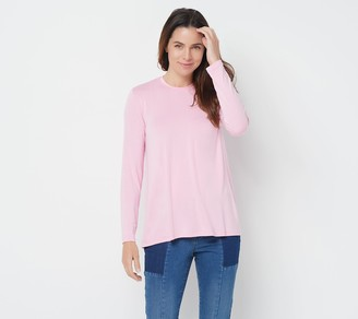 Halston H By H by Essentials Long Sleeve Crew Neck Top