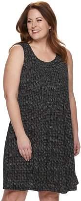 Croft & Barrow Plus Size Pintuck Tank Dress