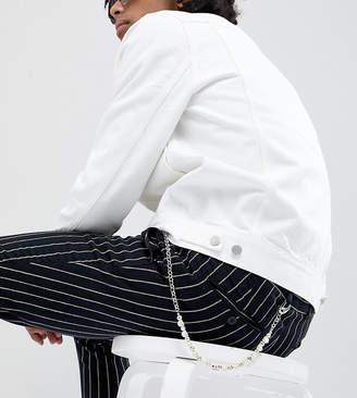 Asos DesignB London DesignB Silver Jean Chain With Skulls Exclusive To