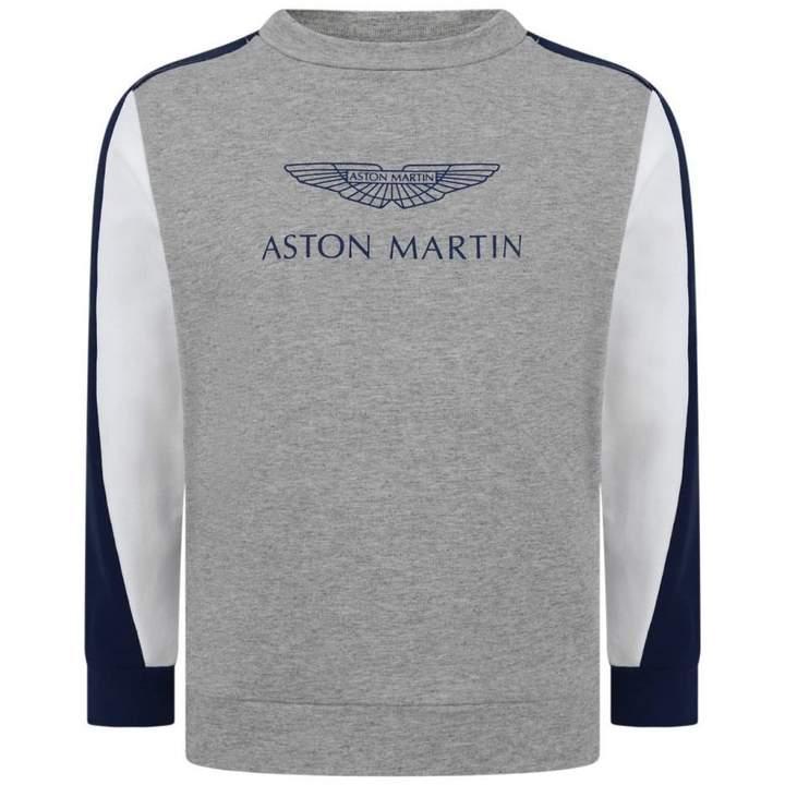 Aston MartinBoys Grey & Navy Logo Sweater