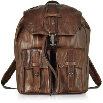 The Bridge Washed Calf Leather Backpack