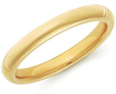 Classic Comfort Fit Wedding Ring in 18k Yellow Gold (2.5mm)