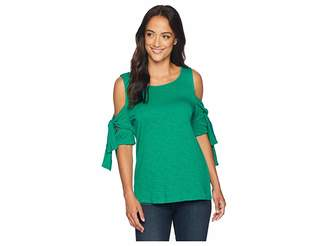 CeCe Double Tie Sleeve Knit Top Women's Clothing