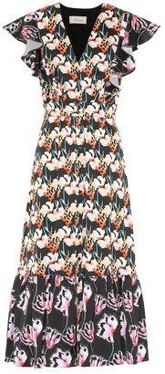 Temperley London Dragonfly printed crepe midi dress