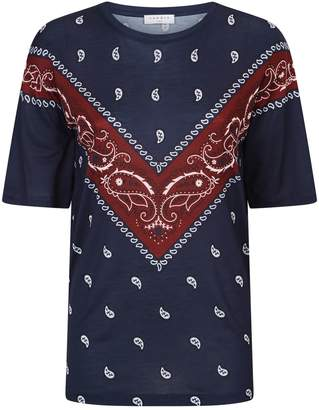 Sandro Handkerchief Print T Shirt