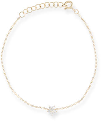 Ef Collection 14k Diamond Flower Chain Bracelet