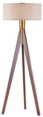 Nova Lamps Brooke Tripod Floor Lamp - Wood/Brass