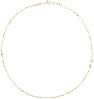 Jacquie Aiche 14kt yellow gold 3x2x1 diamond chain choker