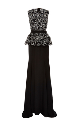 Oscar de la Renta Sleeveless Peplum Gown $4,690 thestylecure.com