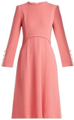 Goat Golightly Wool Crepe Dress - Womens - Pink
