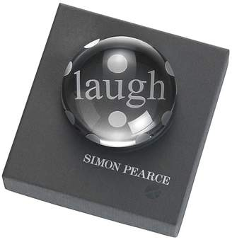 Simon Pearce Laugh Paperweight