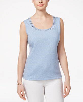 Karen Scott Studded Tank Top, Only at Macy's $9.98 thestylecure.com