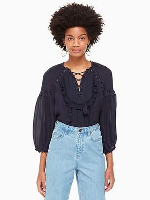 Kate Spade Billie Top, Rich Navy - Size XXS