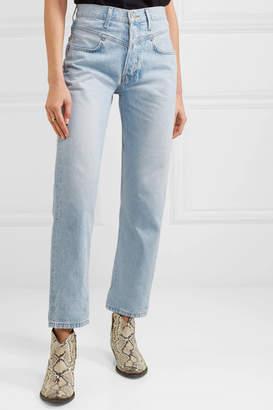 RE/DONE Double Yoke High-rise Straight-leg Jeans - Light denim