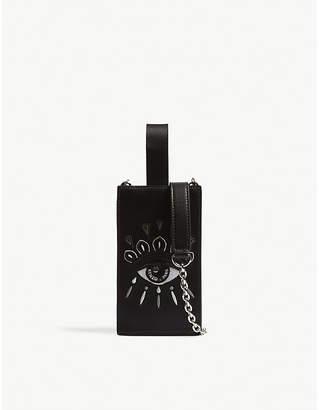 Kenzo Icons Eye leather phone holder on chain