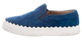 Chloé Ivy Scallop-Trimmed Sneakers