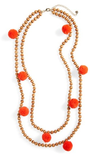 Women's Baublebar Grenada Double Strand Pompom Necklace