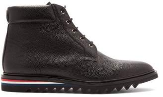 Thom Browne Grained Leather Blucher Boots - Mens - Black
