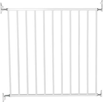 Babydan No Trip Baby Safety Gate - White Metal