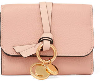 Chloé Embellished Textured-leather Wallet - Blush