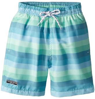 Toobydoo Touch of Green Stripe Swim Shorts Boy's Swimwear