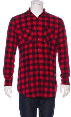 Fear Of God First Collection Zip-Accented Flannel Shirt