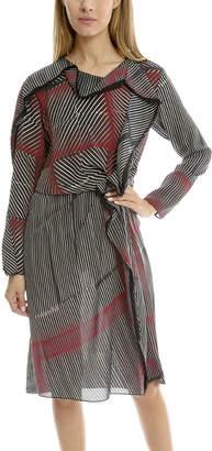 3.1 Phillip Lim Print Silk Ruffle Dress