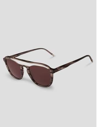 Calvin Klein cat-eye round sunglasses