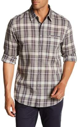 John Varvatos Collection Plaid Long Sleeve Slim Fit Shirt
