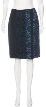Schumacher Dorothee Silk Lace-Accented Knee-Length Skirt