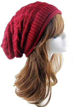 4a0b1b08a24 Telamee Women Black Winter Beanie Cabled Knitted Hat Crochet Warm Cap for  Girls